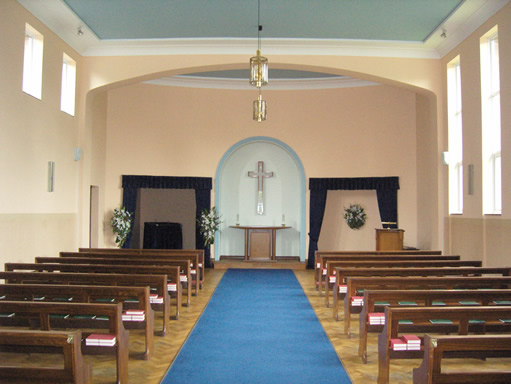 Interior of Altrincham Crematorium