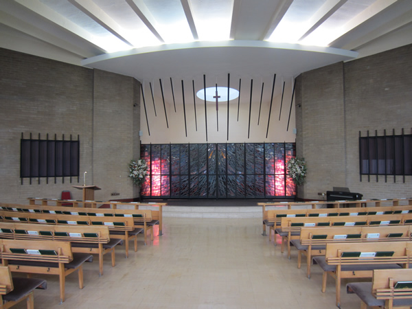 Interior of Blackley Crematorium Chapel