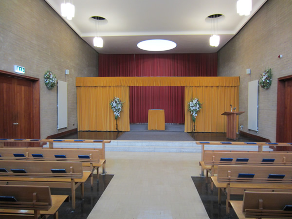 Interior of Blackley Crematorium