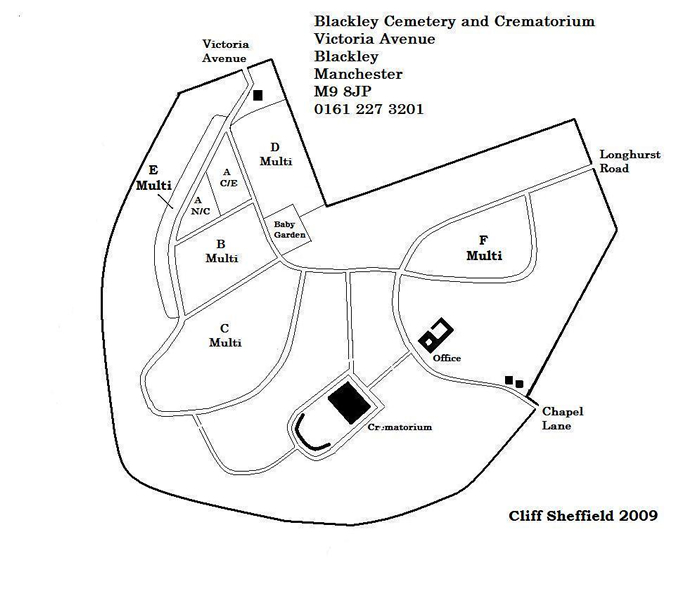 Blackley Cemetery & Crematorium Grave Plan
