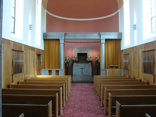 The Interior of the New Chapel at Manchester Crematorium